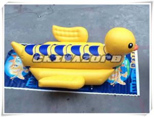Vivid Duck Shaped Inflatable Banana Boat Top Quality