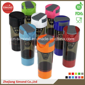 600ml Shaker Bottle with Pill Containers (SB6001)