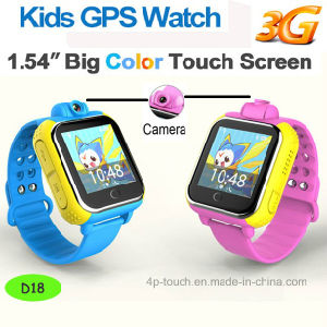 3G WiFi GPS Watch Tracker with Rotating 3.0m Camera (D18) pictures & photos