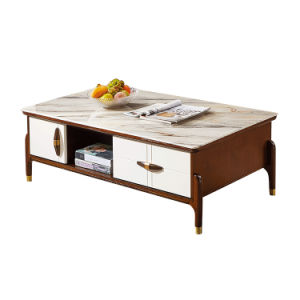 China Home Furniture Popular Style Fashion Glass Steel Stone End Table And Coffee Table Set For Living Room China End Table Coffee Table Set End Table And Coffee Table Set