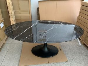 Black Marble Top Tulip Dining Table