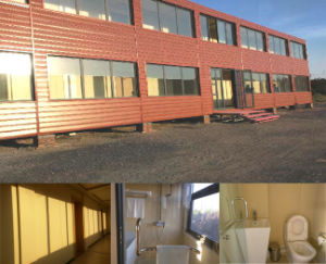 Eco-Friendly Polyurethane Sandwich Panel Fully Equipped Container House Hotel pictures & photos