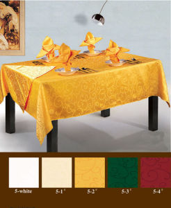 Long Guaranty Colorful Table Cloth (FCX-532) pictures & photos