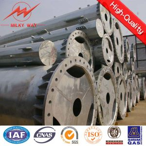 14m 16kn Steel Round Pole Price Supplier for Africa