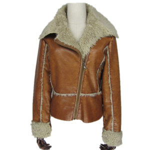 The Most Popular, Fur Collar, Women Brown Jacket
