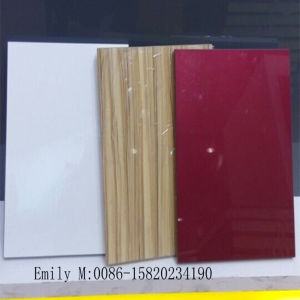 E1 Grade MDF Kitchen Cabinet Door From High Glossy UV MDF pictures & photos