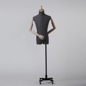 FRP Male Upper Body Mannequin with Four Wheels Baseplate pictures & photos