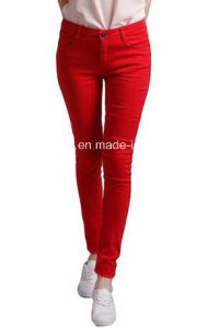 Women Low Rise Cotton Jegging Skinny Denim Jean Style Leggings Fitted Pants (0726) pictures & photos