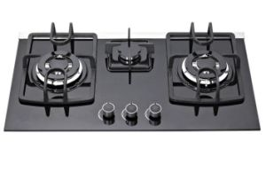 High Quality 3 Burners Gas Stove/Tempered Glass Gas Hob pictures & photos