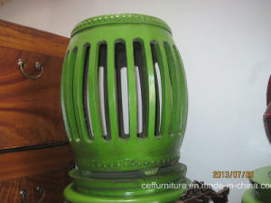 Green Antique Stool