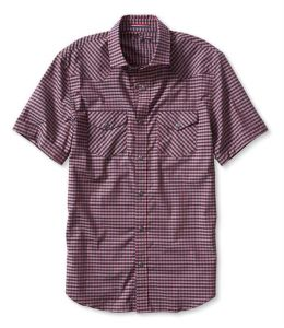 Slim-Fit Gingham Short-Sleeve Western Shirt pictures & photos