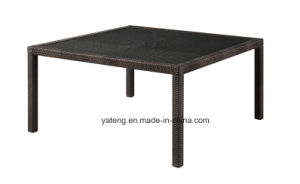Cheap Aluminum Wicker Big Dining Table of Garden Furniture (YTA020-1&YTD020-3) pictures & photos