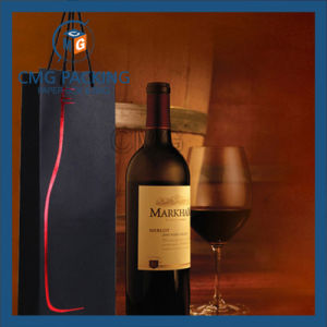 Matt Lamination Wine Bottle Paper Bag with Handle (DM-GPBB-184) pictures & photos