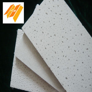 15mm Strong Strength White Color Mineral Wool Ceiling Tile pictures & photos