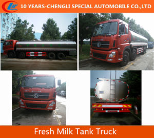 Dongfeng 8X4 30cbm Fresh Milk Tank Truck pictures & photos