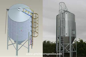 5-100ton Customized Feed Silo for Sale, Small Grain Storage Silo Used for  Chicken Poultry Farm