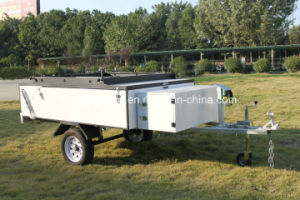 Basic Camper Trailer Hard Floor Camping Trailer with Tent (GC-M01)