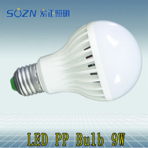 9W LED Bulb with Plastic for Indoor Use