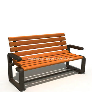 Park Bench, Picnic Table, Cast Iron Feet Wooden Bench, Park Furniture FT-Pb022