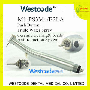 LED Push-Button Dental High Speed Handpiece (M1-PS3M4/B2LA)