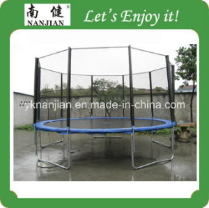 TUV 15ft Outdoor Trampoline with Safety Net and Ladder pictures & photos