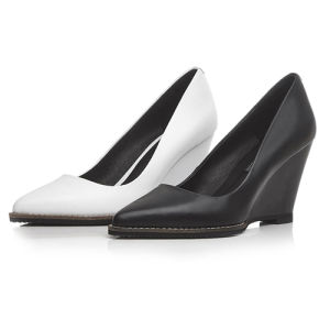 High Wedge-Soled Heel Sharp Toe Sexy Lady Women Dress Shoes