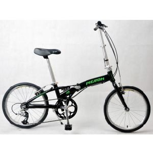 "16"" Variable Speed Blue Folding Bike"