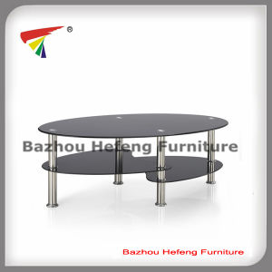 Tempered Glass Coffee Table with Stainless Steel (CT001) pictures & photos