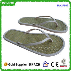 620acad16 China Causal Fancy Beach Outdoor Woven Straw Flip Flop (RW27962B ...