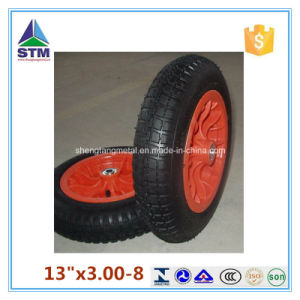Factory Inflatable Pneumatic 3.00-8 360mm Air Rubber Wheel