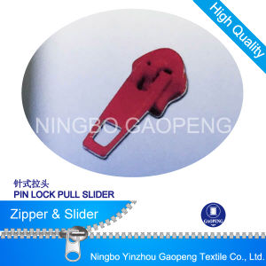 Pin Lock Pull Slider for Clothing/Garment/Shoes/Bag/Case pictures & photos