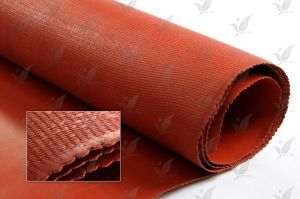 Silicon Rubber Coated Fiberglass Fabric Fireproof Red Colour pictures & photos