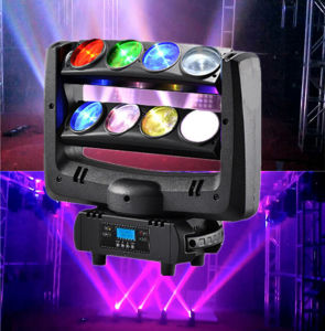 LED Effect 8PCS Spider Moving Head Rotating Beam Moving Light