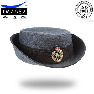 1c794a3ee74 China Gray Bucket Cap with Metal Embroidered Emblem - China Bucket ...