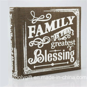 "Wholesale Printed Linen Fabric Family Photo Album for 4X6"", 5X7 "" Photos pictures & photos"