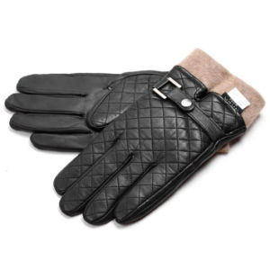 Men′s Fashion Cashmere Lining Goatskin Leather Winter Warm Gloves (YKY5194B) pictures & photos