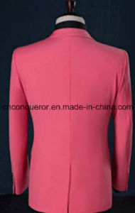 Fashion Full Wool Pink Men Suit pictures & photos
