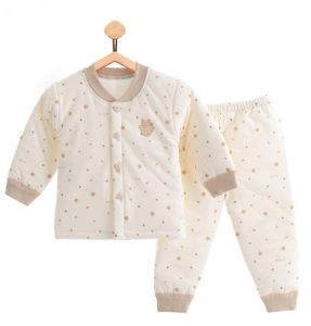 384054b91c2a 100% Cotton Printing Long Sleeve Warm Baby Suit Newborn Infant Baby Clothes