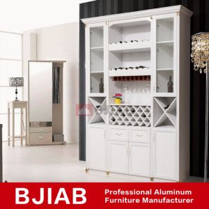 White Oak Modern Metal Home Furniture Aluminum Wine Cabinet