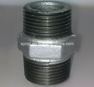 Galvanized Malleable Iron Pipe Fitting Hexagon Equal Nipple pictures & photos