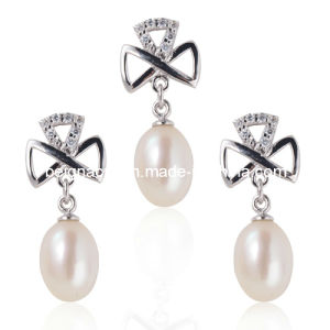 925 Silver with Fresh Water Pearl Jewelry Set