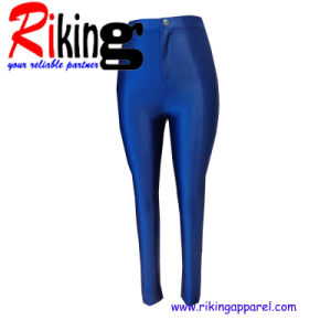 Fashion Ladies Wear Solid Color Long Trousers (RKTR1364)