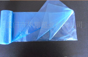 HDPE/LDPE Plastic Light Blue Star Seal Bag on Roll