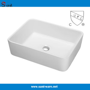America & Canada Hot Selling Bathrooom Ceramic Sink with Cupc (SN106-009A)