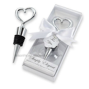 Simply Elegant Chrome Heart Bottle Stopper pictures & photos