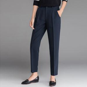 New Fashion Navy Blue Long Formal Wear Las Office Pants
