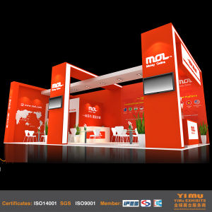 Wood Painting Exhibition Stand Design for China Tradeshows