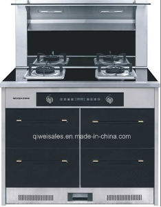 Integrated Cooker with Double Gas Stove (JJC-100B-B1)