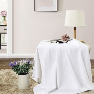 White Cotton Fabric For Bedding Sets And Table Cloth