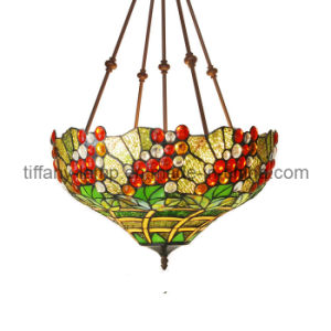Antique Stained Glass Hanging Lamp (TP16060)
